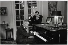 James Joyce playing the piano with his son, Paris,1938