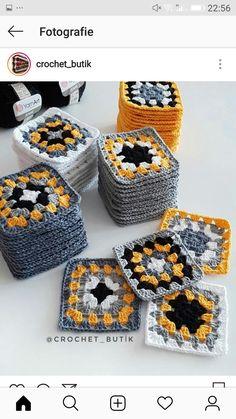 Transcendent Crochet a Solid Granny Square Ideas. Inconceivable Crochet a Solid Granny Square Ideas. Baby Afghan Crochet, Crochet Quilt, Crochet Cardigan, Crochet Blanket Patterns, Crochet Motif, Diy Crochet, Crochet Crafts, Crochet Flowers, Crochet Projects