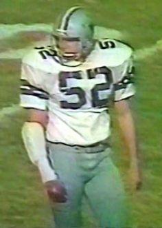 Reserve center ROBERT SHAW (52)--November 18, 1979 Cowboys 4, Dallas Cowboys, Robert Shaw, Win Or Lose, Vintage Football, American Football, Fence, November, Texas