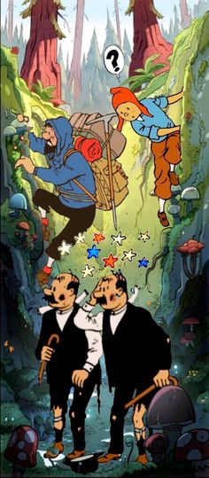 tintin // ... lost in an enchanted forest?