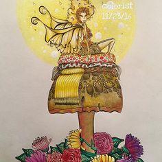 Artist: Denyse Klette Book: Fairies in Dreamland ✨✨✨✨✨✨✨✨✨✨✨ #denyseklette #fairiesindreamland #fairiesindreamlandcoloringbook #fairiesindreamlandcolouringbook #prismacolor #polychromos #holbeinartistscoloredpencil #bayan_boyan #shitilovetocolor