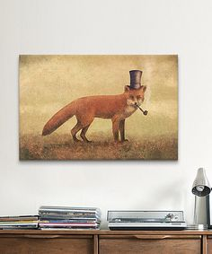 Look what I found on #zulily! Crazy Like a Fox Gallery-Wrapped Canvas #zulilyfinds