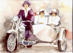 Sin titulo- what a gorgeous side-car painting. Captures the era beautifully.