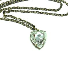 Old Hollywood - Vintage Swarovski Crystal Heart