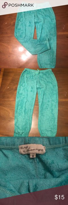 Green joggers So so soft. Thin light weight material Vintage Havana Pants Track Pants & Joggers