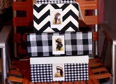 Turn a shoe box into a hat box. Great idea to take a polaroid to show what is inside.