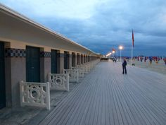 'Promenade des Planches' (the boardwalk) in Deauville (Normandy, France)