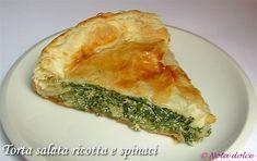 Torta salata ricotta e spinaci, ricetta vegetariana