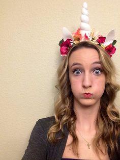 Unicorn horn headband flower crown unicorn by MadDragonStudio Mais