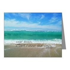 Love Notes To The Beach Can't Resist Note Card