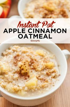Oatmeal has never been easier than with this Instant Pot Apple Cinnamon Oatmeal recipe. Cook it for 6 minutes on high pressure and it's ready to enjoy! Healthy Oatmeal Recipes, Apple Recipes, Gourmet Recipes, Cooking Recipes, Cooking Ideas, Appetizer Recipes, Instant Pot Oatmeal Recipe, Is Instant Oatmeal Healthy, Apple Cinnamon Oatmeal