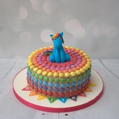 My Little Pony cake decorated with Smarties