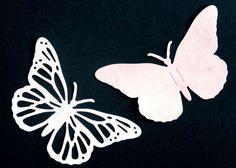Farfalle di carta fai da te - Farfalle bianche di carta