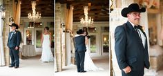 First Look with Dad l The Orchard wedding in Azle, Texas