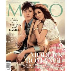 """""""Kathryn Bernardo & Daniel Padilla together for the first time on the cover of a fashion magazine!"""" 