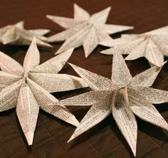 Star Christmas Paper Ornaments