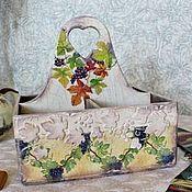 Для дома и интерьера ручной работы. Ярмарка Мастеров - ручная работа короб подставка Виноград. Handmade.