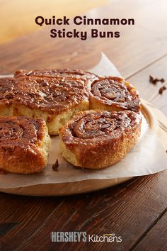 These Quick Cinnamon Sticky Buns make for a delicious morning meal. This easy recipe is made with HERSHEY'S Kitchens Cinnamon Chips to add major flavor to your next breakfast. This is a family-friendly recipe that will definitely get requests throughout fall and winter.