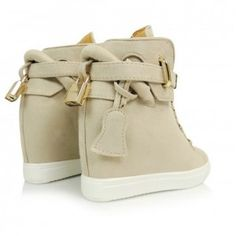 bezove-damske-clenkove-topanky-na-platforme (2) Baby Shoes, Platform, Wedges, Sneakers, Clothes, Art, Fashion, Tennis, Outfits