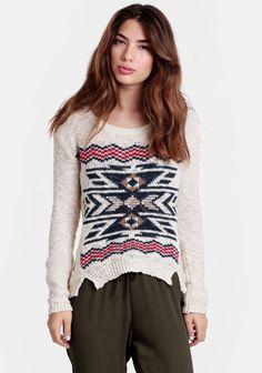 Tempe Aztec Sweater at #threadsence @ThreadSence