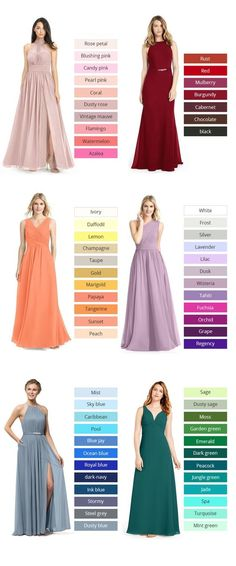 A brides best friend! Azazie offers 70 colors for you to choose from, We also provide more than 400 trendy styles for you to choose from. Available in full size range and free custom sizing. Chic Wedding, Perfect Wedding, Rustic Wedding, Dream Wedding, Wedding Bridesmaid Dresses, Wedding Gowns, Prom Dresses, Bridesmaid Color, Bridesmaid Gifts