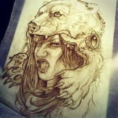 Girl with Bear Headdress Tattoo - Bing Images