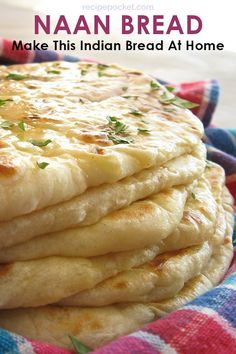 This naan bread recipe is easy and eggless and healthy to make. This homemade In… This naan bread recipe is easy and eggless and healthy to make. This homemade Indian bread is fast to cook in a skillet. Soft and… Continue Reading → Make Naan Bread, How To Make Naan, Homemade Naan Bread, Recipes With Naan Bread, Best Bread Recipe, Food To Make, Bread Making, Garlic Naan Bread Recipe Easy, Easy Things To Cook
