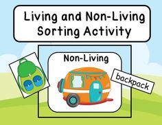 Students will review living and non-living things with this sorting activity. They will match pictures on living and non-living things to the appropriate mini-posters and then match the words with the pictures. Also included are several worksheets.