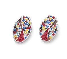Swarovski, Enamel, Accessories, Products, Colors, Fashion, Earrings Online, Stud Earring, Ladies Accessories