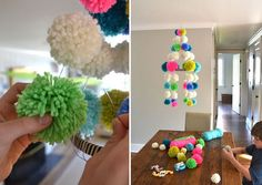 Do you love creating things out of pom poms? Then you'll love these 60 pom pom crafts that you can create with your kids.