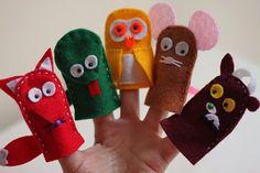 Gruffalo character felt finger puppets; like this simple fox