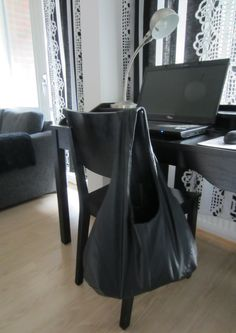 Tee-se-itse-naisen sisustusblogi: Bag Made Out Of Recycled Leather