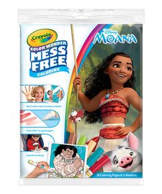 Look at this #zulilyfind! Moana Color Wonder Mess-Free Coloring Book & Markers #zulilyfinds
