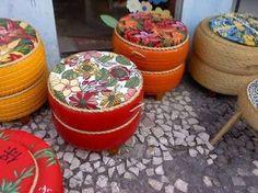 Resultado de imagem para decoracao artesanal para jardim