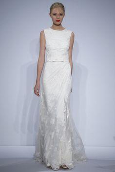 Vestido de novia de Dennis Basso (FW 2014) #weddingdresses #NYBW