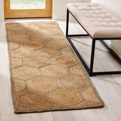 Latitude Run Stalder Fiber Hand Woven Natural Area Rug Rug Size: Runner x Aqua Area Rug, White Area Rug, Beige Area Rugs, Hallway Runner, Natural Area Rugs, Design Your Home, Runes, Rug Size, Animal Print Rug