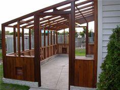 10' x 20' Cedar-Built LEAN-TO GREENHOUSE .