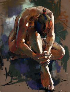 "Hands clasped, 29"" x 21"", pastel   Artist - Crawford Adamson"