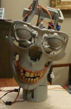 Animatronic Skull by Djfx - Thingiverse 3d Printer Designs, 3d Printer Projects, Cnc Projects, Scooter Design, Robot Design, Useful 3d Prints, Halloween Animatronics, Futuristic Robot, Humanoid Robot