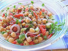 Kitchen Stories, Chickpea Salad, Greek Recipes, Pasta Salad, Salads, Appetizers, Cooking, Ethnic Recipes, Food