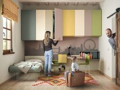 Wardrobe for kids' bedrooms custom N.O.W. WEIGHTLESS WARDROBE by Lago design Daniele Lago