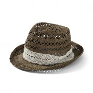 Shop here- $1 of every $5 goes to our charity! Brown Women's Raffia Fedora