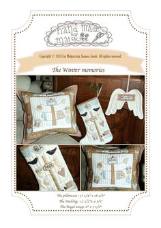 Winter memories -PDF pattern (3 in one) -by MJJenekdesigns