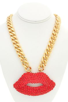 SOLD on Poshmark! Kiss Necklace