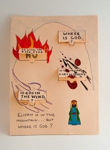 Kids Craft: How God Speaks To Elijah | HOOKED ON THE BOOK