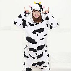 8b9c93ba62   34.99  Adults  Kigurumi Pajamas Milk Cow Animal Onesie Pajamas Coral  fleece Black Cosplay For Men and Women Animal Sleepwear Cartoon Festival    Holiday ...