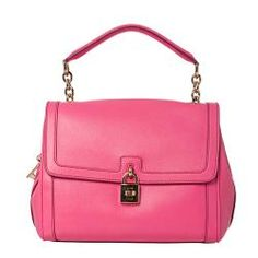 @Overstock - A structured, pink leather construction defines this flap-over, turn-lock satchel from Dolce & Gabanna. The goldtone key and lock embellishment lend a charming touch to this designer, leopard-lined handbag.http://www.overstock.com/Clothing-Shoes/Dolce-Gabbana-Pink-Leather-Lock-and-Key-Satchel/7009218/product.html?CID=214117 $999.99