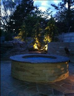 Lighting adds so much to this backyard!