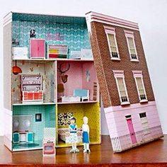 Cardboard Dollhouse Cardboard Toys Diy Dollhouse Creative Teaching Creative Kids Teaching Art Compass Art Kids Doll House Diy Y Manualidades