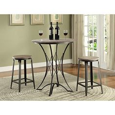 Merveilleux Woodhaven Hill Atwood 3 Piece Counter Height Dining Set U0026 Reviews | Wayfair  | Brandon Beige | Pinterest | Counter Height Dining Sets, Dining Sets And  ...